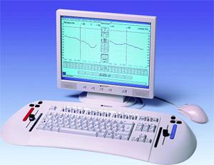 Диагностический компьютерный аудиометр МА 55. Внешний вид